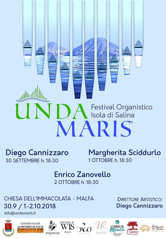 La locandina di Unda Maris, il festival di musica d'organo di Salina