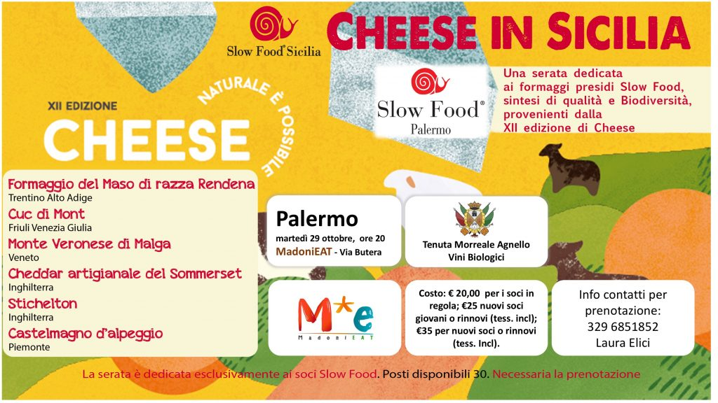 Cheese in Sicilia Slow Food Palermo