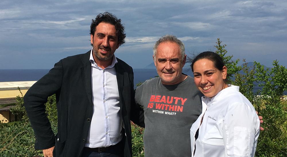 Martina e Luca Caruso con Ferran Adrià
