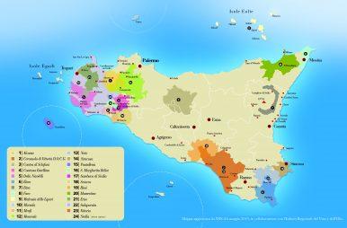 mappa DOC e DOCG di Sicilia